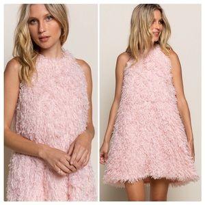 POL POL Shag 60's Mod Flamingo Party Dress